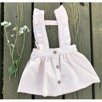 Pollera paño rosa