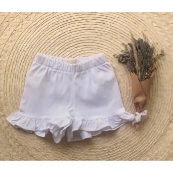Short gabardina blanco