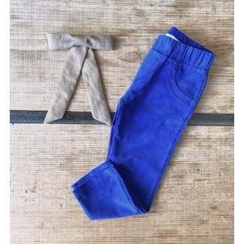 Pantalón pana azul francia