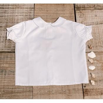 Blusa blanca reversible lisa